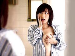 【エロ動画】朝起きたら体が母ちゃんになっていた 翔田千里の人妻・熟女エロ画像