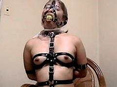 ビニール袋呼吸制御オナニー2