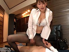 パンスト:高飛車な女上司はパンスト穿きながら馬乗り生挿入!4