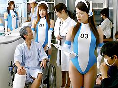 【エロ動画】未来の病院で活躍するアンドロイド看護婦たちのエロ画像