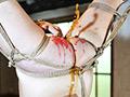 上半身を縛り大きく足を開かせての逆さ吊り