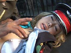 【エロ動画】女軍人3 敗北の美人指令・恥辱の宴のエロ画像