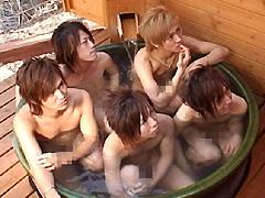 アクシードスター5人のお風呂シーン アクスタ☆4