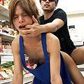 コンビニ店員が客に脅され性行為!店内でアナルファック