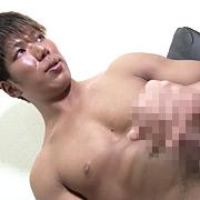 色黒マッチョ青年「アツシ」2日溜めた濃厚精子を大発射
