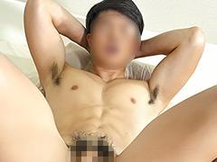 -IKUZE-大人気マッスル・モデル「タケル」男とのガチSEXでイかされる!!