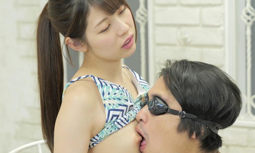 あおいれなの唾ベトベトの脇&乳首をM男に舐めさせ