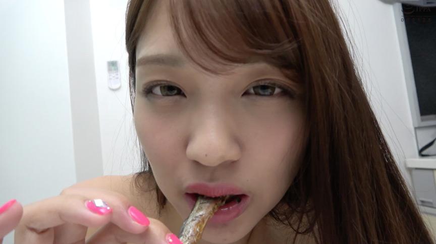 大人気女優 木下ひまりチャンのししゃも舐め&咀嚼!!