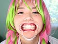 甘●寺蜜璃の歯・口内・のどちんこ観察&電マ当て!!!