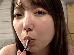 夏原唯チャンのグミ&小魚舐め咀嚼観察!!!