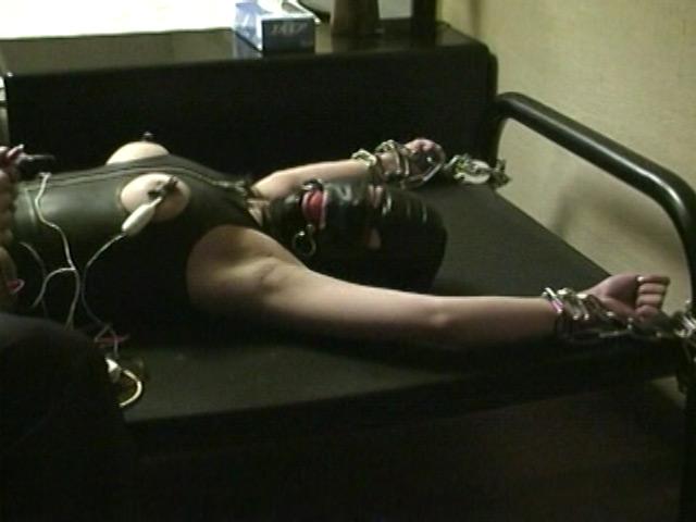 女体実験 剃毛電流針責め調教 画像 2