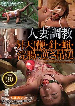 【SM動画】人妻調教-昇天!鞭・針・蝋・浣腸・逆さ吊り!!