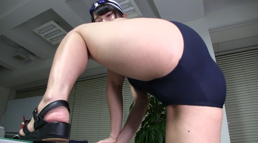 スクール水着×むちむち腿こきオイル 画像 4