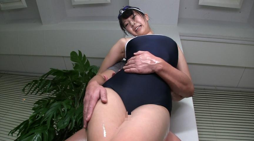スクール水着×むちむち腿こきオイル 画像 7
