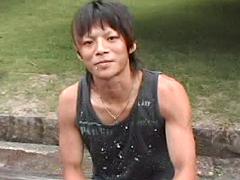 京都男子 ノンケのレイ、初穴挑戦