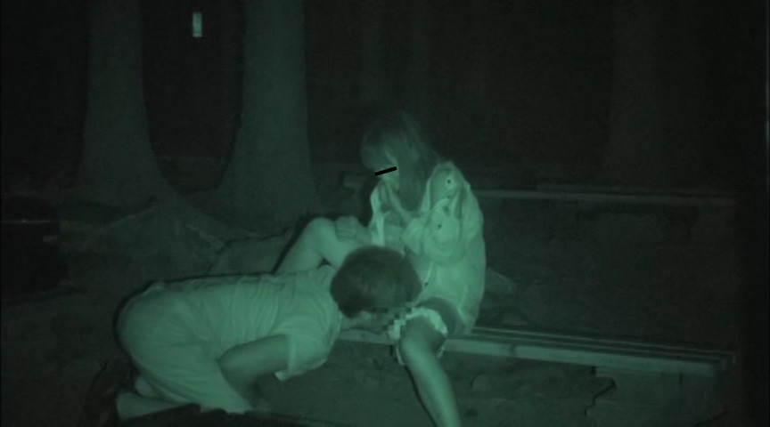 ハメを外して青姦している客を覗き続けているキャンプ場管理人の本物盗撮映像 2枚目