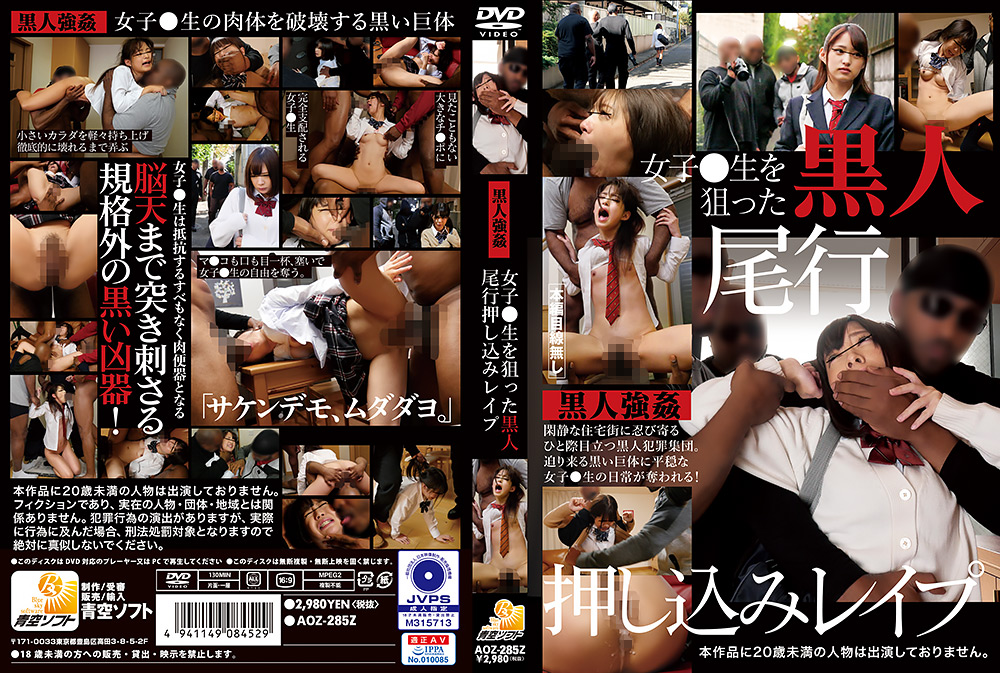 女子○生を狙った黒人尾行押し込みレイプ パッケージ画像