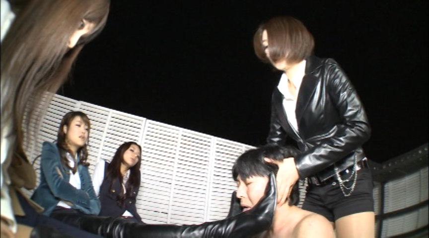 "An elegant woman ""超美脚"" ニーハイブーツリンチ!! 画像 14"