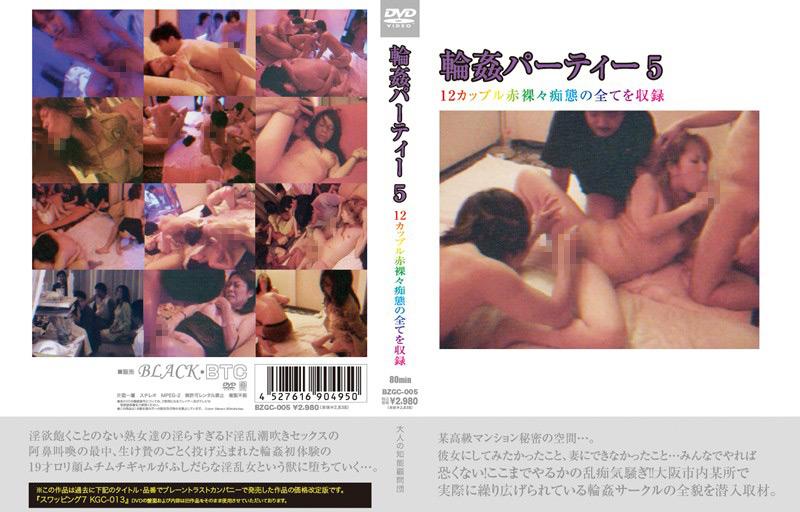 輪姦パーティー5 12カップル赤裸々痴態の全てを収録 パッケージ画像