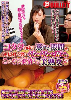 【ともみ動画】先行コタツの中で股間を弄られこっそり欲情する美人おばさん3 -熟女