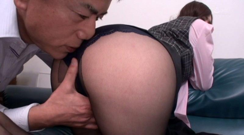 エロ尻お姉さん陰部密着黒パンスト穿いたままSEX 画像 19