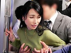 人妻痴漢電車~さわられた五十路母~ 鶴川牧子