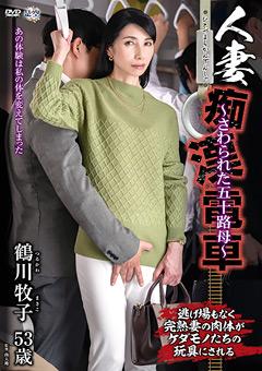 【鶴川牧子動画】人妻痴漢電車~さわられた五十路母~-鶴川牧子 -熟女