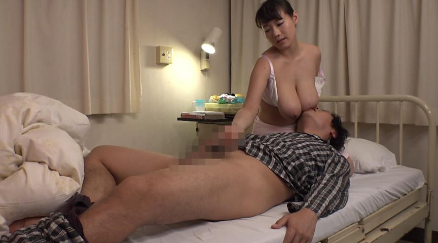 巨乳看護師が退院祝いの乳揺れ騎乗位をしてくれた1