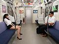 最終電車で痴女とまさかの2人きり!のサムネイルエロ画像No.9