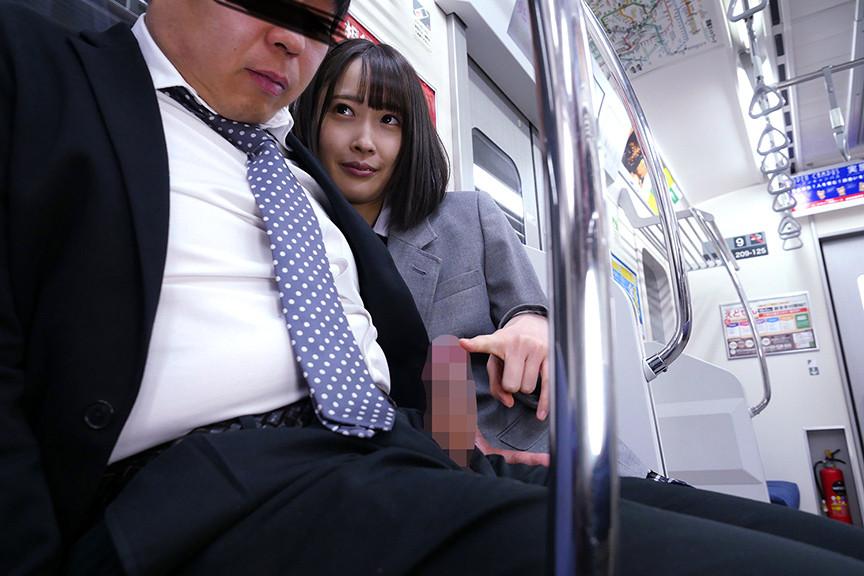 最終電車で痴女とまさかの2人きり!J○Ver向かいの座席でパンチラしてくる小悪魔女子○生の誘惑で勃起したらヤられた 1枚目