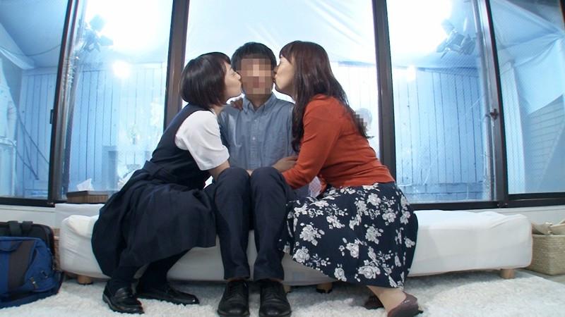 一般男女モニタリングAV 家族が母娘親子丼3Pに挑戦!2