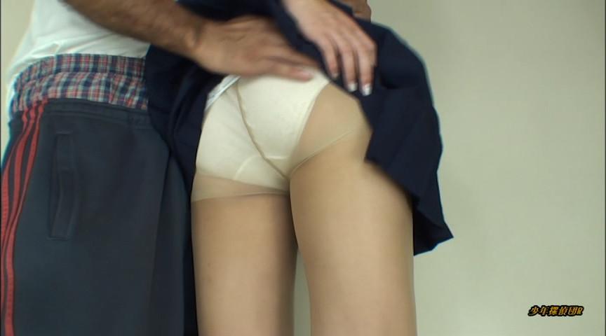 制服にはスリップと肌色ストッキングと白い綿のパンツ 画像 7