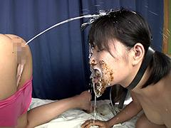 食糞スカトロレズ浣腸汁顔面洗顔