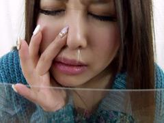 フェチ:鼻フェチ作品 鼻穴・鼻水観察 みおん