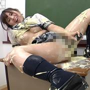 女子○生の教室マヨネーズオナニー
