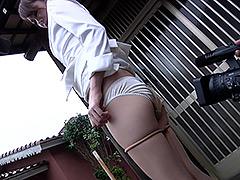 【スカトロ動画】ハプニング-リポート中に脱糞!-(浣腸してリポート)