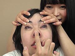 【ゆい動画】変顔マニアック!顔面いじり・顔面ストッキング -辱め