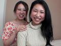 美穂と莉那の唾液レズベロ接吻のサムネイルエロ画像No.1