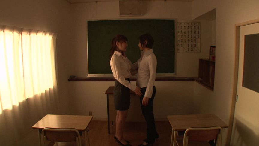 鼻・顔面舐めレズ 女教師の恋愛編 日高結愛 小峰みこ