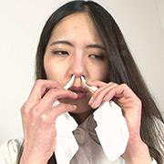 素人娘ちひろちゃん&かりんちゃん鼻観察・くしゃみ鼻水