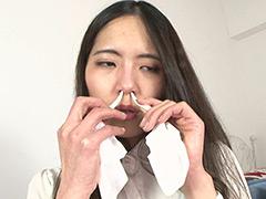 素人娘ちひろちゃん&かりんちゃんの鼻観察・くしゃみ鼻水 2本セット