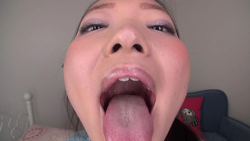 素人娘ともみちゃんの舌・口内自撮り&主観口臭嗅がせ 画像 3