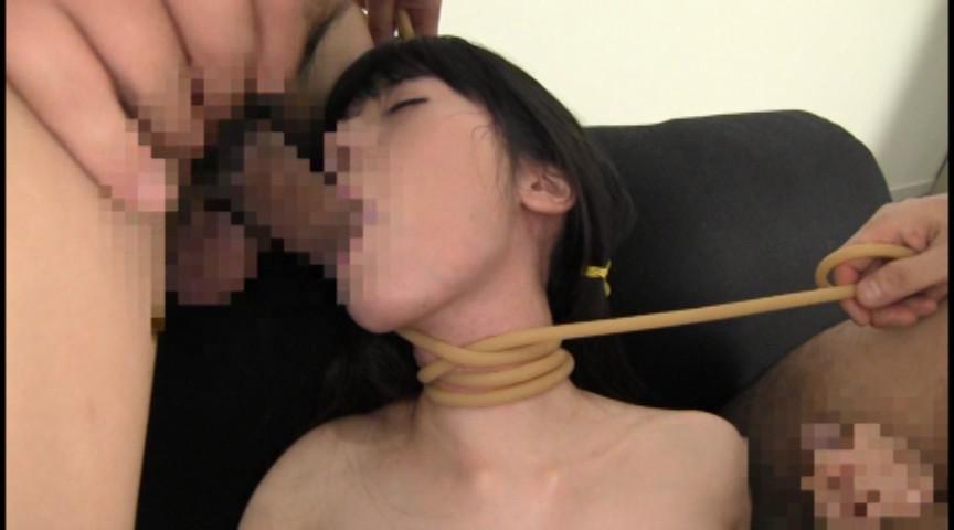 貧乳パイパン生中出し少女 琴音さら 首絞め首吊り失神悶絶SEX の画像9