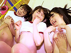 Aカップびっち3人組が校内を占拠!!