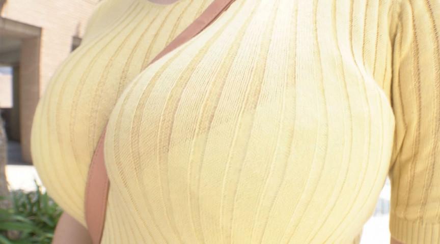 ハレンチすぎる着衣爆乳!Kカップ素人みさきサン 画像 1