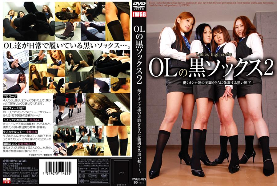 ソックス:OLの黒ソックス2