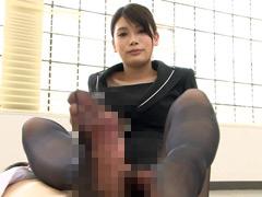 パンスト:美人OLの黒ストッキング責め