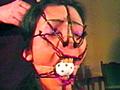 熟女鼻責め緊縛・顔面縄拷問