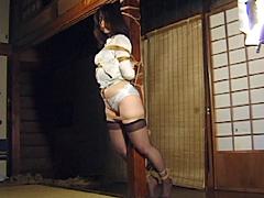 緊縛エロス07 花模様褌縛り・海老責め強烈初体験