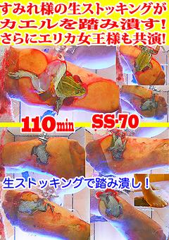 【すみれ動画】すみれ様の生ストッキングがカエルを踏み潰す!-マニアック